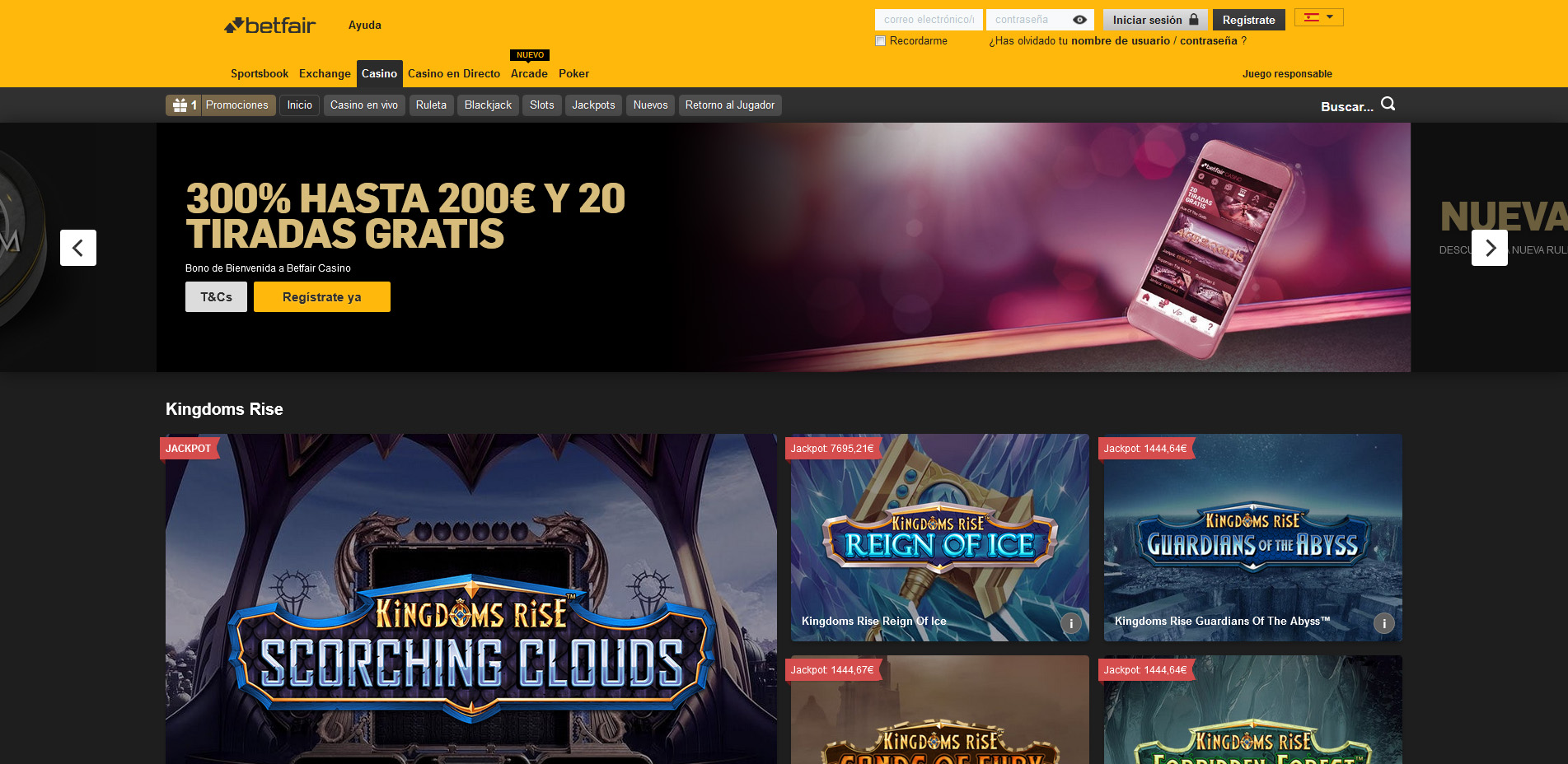 Betfair casino