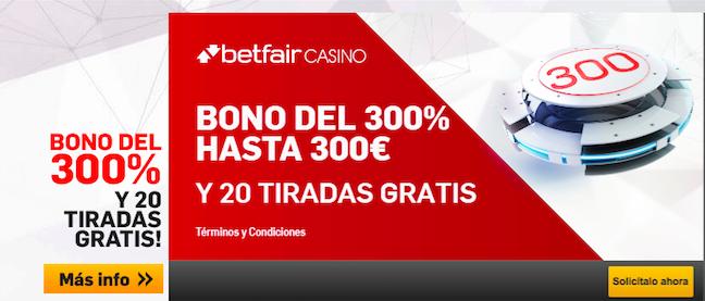 Bono Betfair Casino
