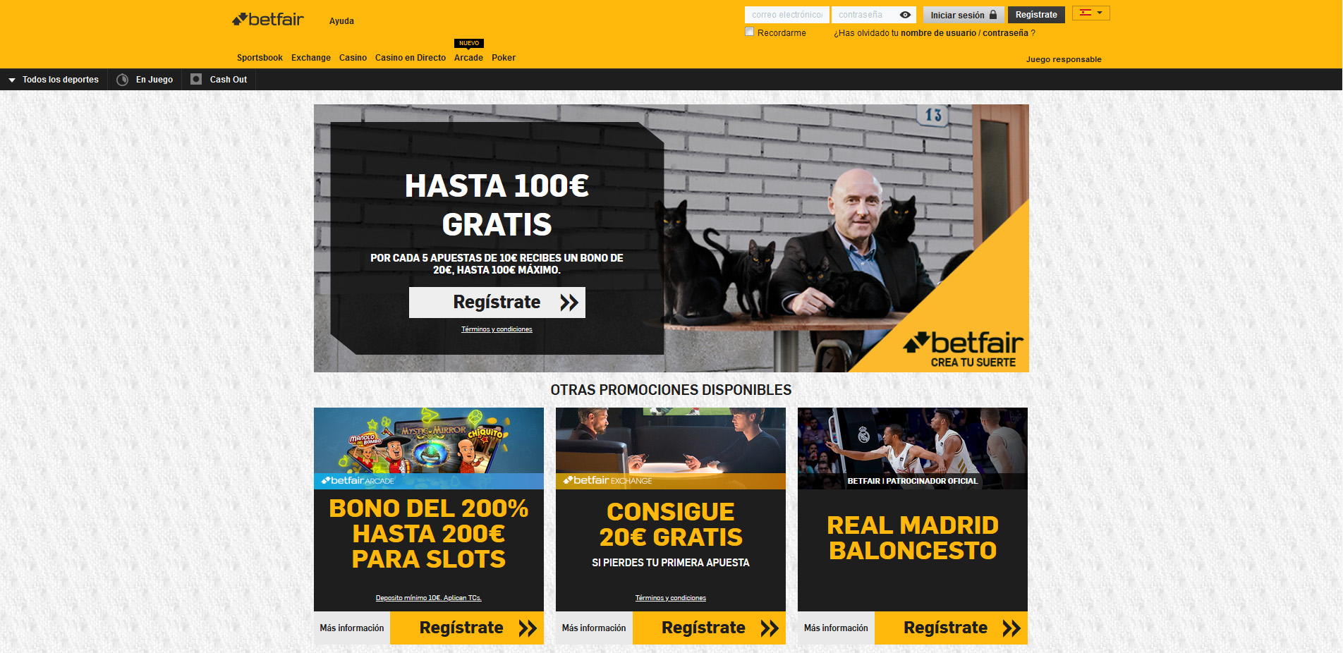 Home page Betfair