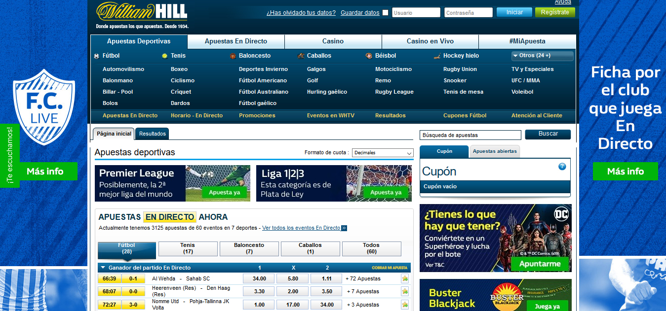 Pagina William Hill