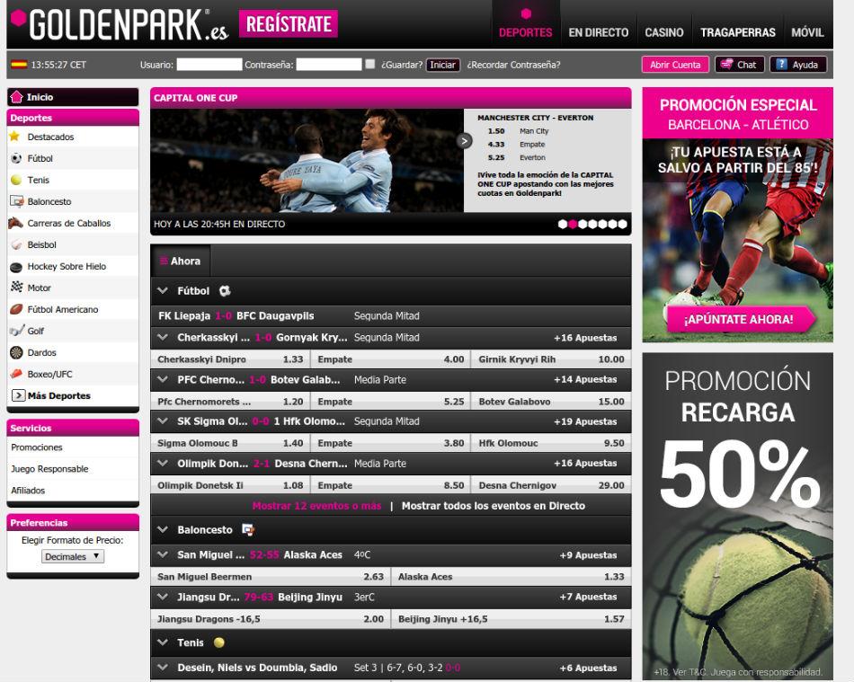 goldenpark homepage