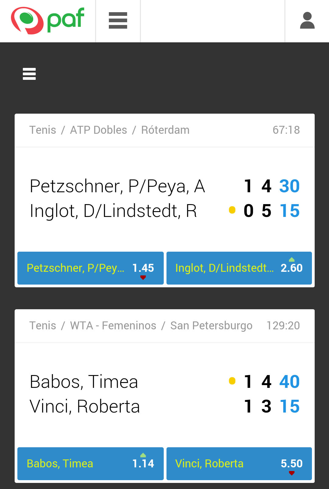 paf app live
