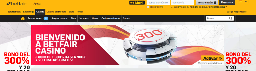 Betfair Casino Info 1