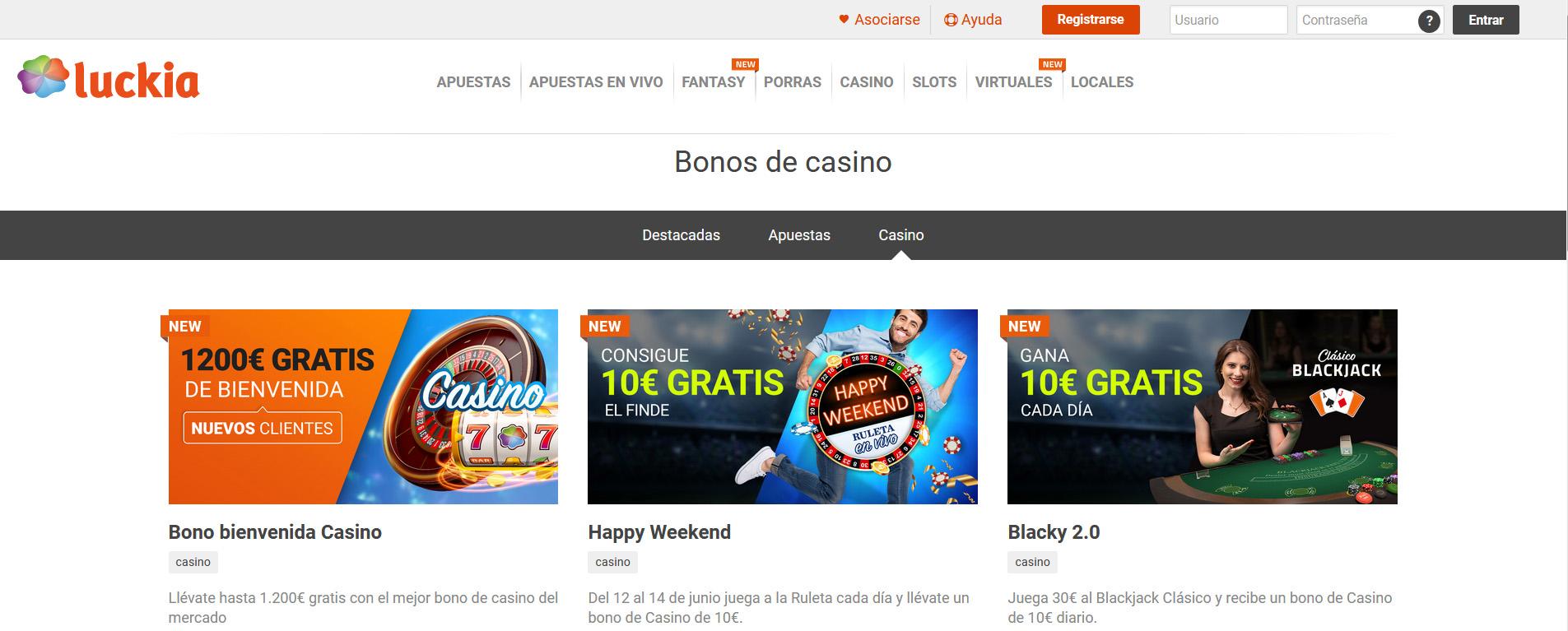Promociones Luckia casino