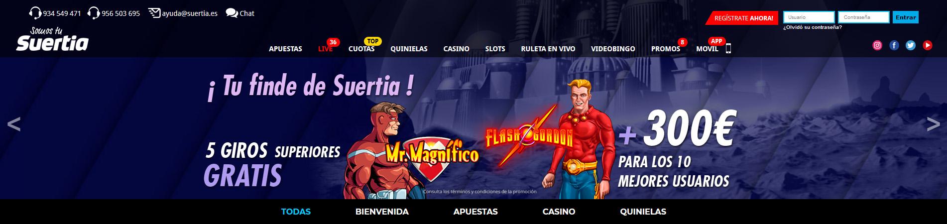 Promociones Suertia Casino