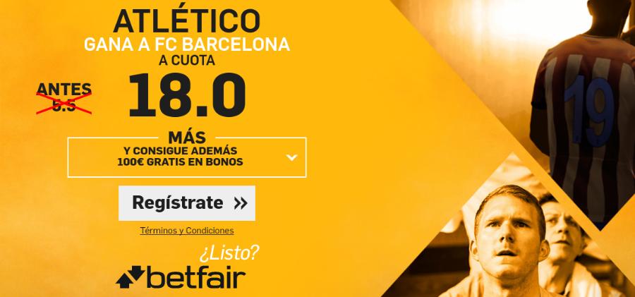 Atlético gana al Barcelona en Copa_Betfair