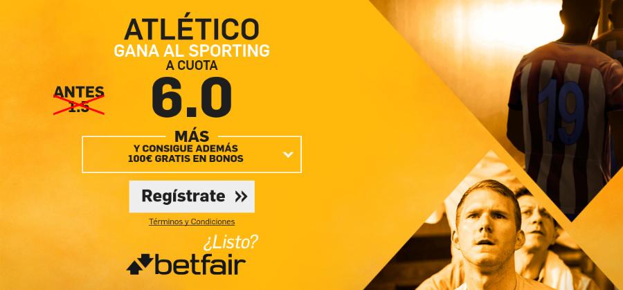 Atlético gana al Sporting Betfair
