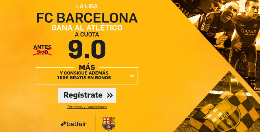 Atlético v Barcelona Betfair
