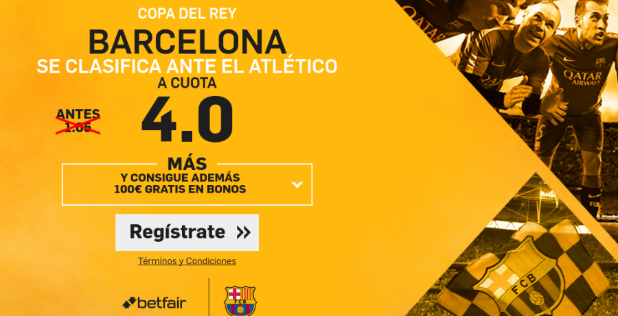 Barcelona clasifica Atleti Betfair