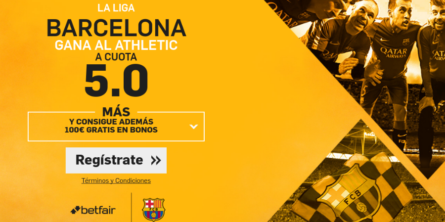 Barcelona gana Athletic Betfair