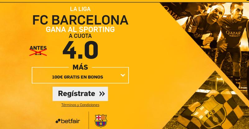 Barcelona v Sporting BEtfair