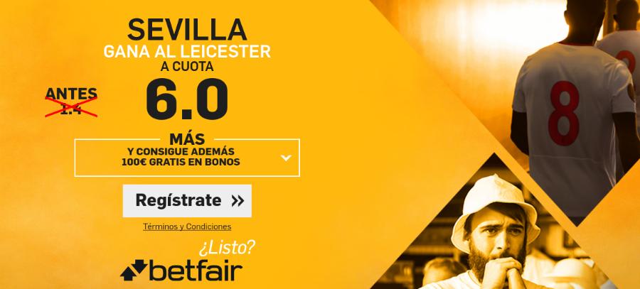 El Sevilla gana al Leicester