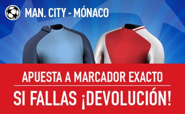 Manchester City-Mónaco Sportium
