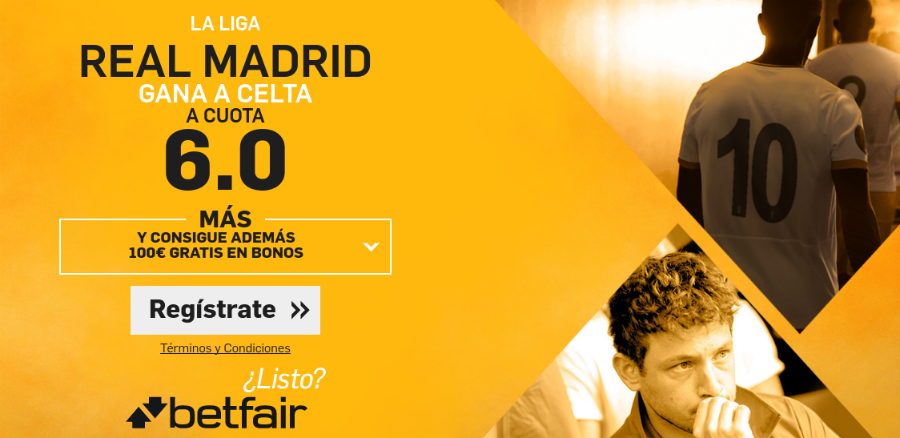Real Madrid gana al Celta Betfair