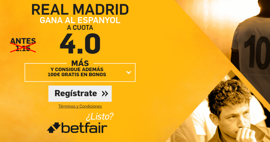 Real Madrid gana al Espanyol Betfair