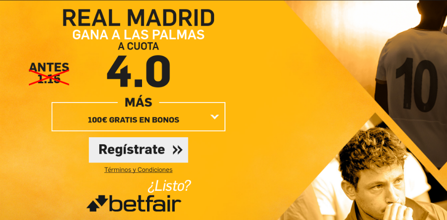 Real Madrid v Las Palmas Betfair