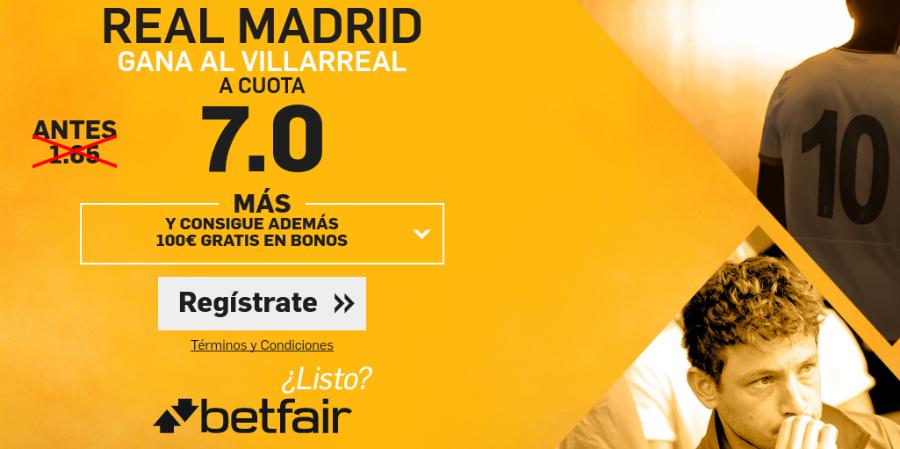 Villarreal v Real Madrid Betfair