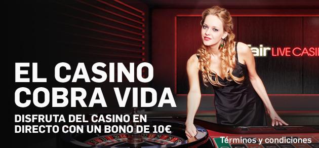 betfair casino bono en directo