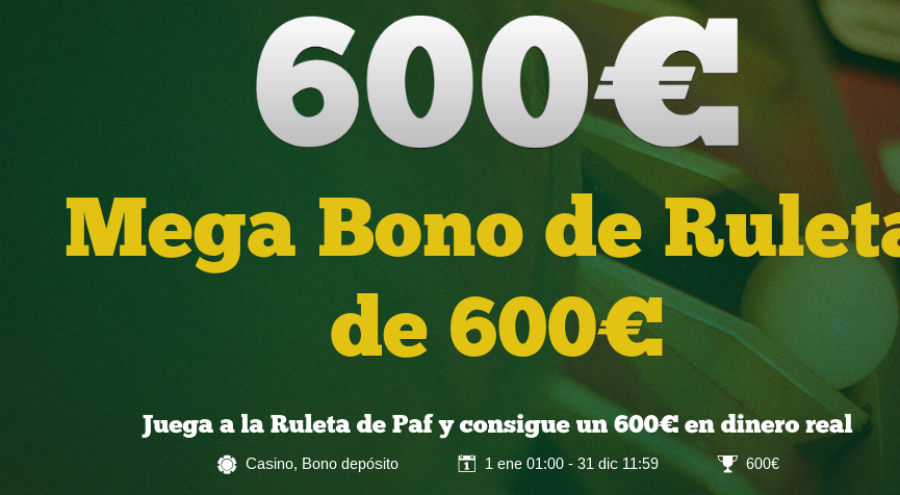 bono ruleta Paf Casino
