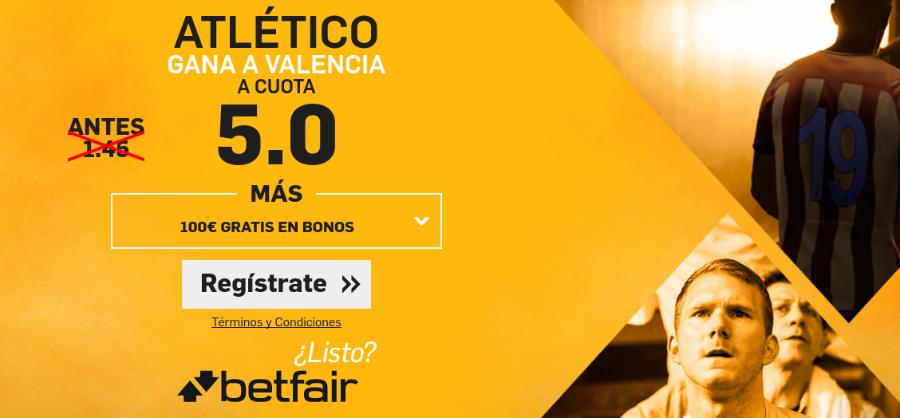 Cuota Atlético de Madrid-Valencia