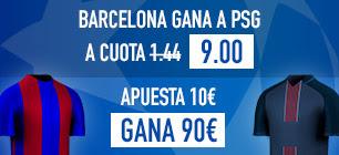 Cuota Barcelona v PSG Sportium