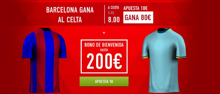 Cuotas Barcelona-Celta Sportium