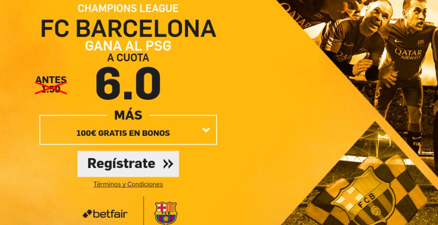 Cuotas Barcelona-PSG Betfair