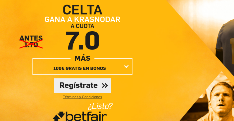 Cuotas Celta-Krasnodar
