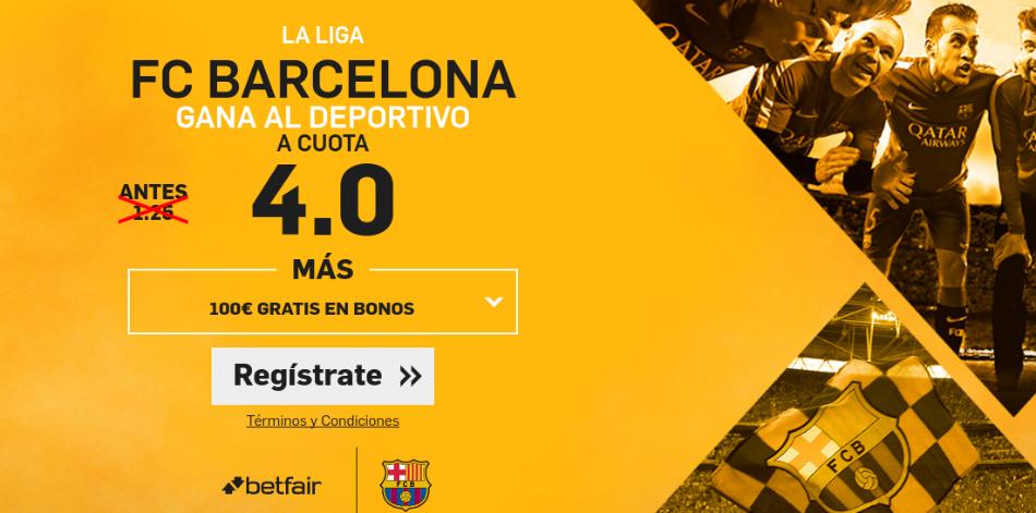 Cuotas Deportivo v Barcelona