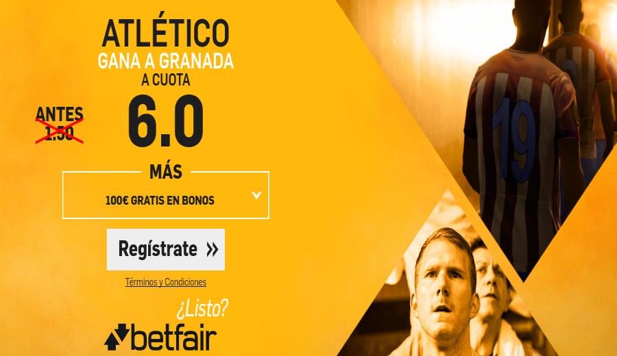 Cuotas Granada v Atlético Betfair