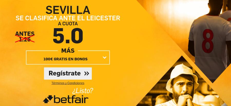 Cuotas Leicester City v Sevilla