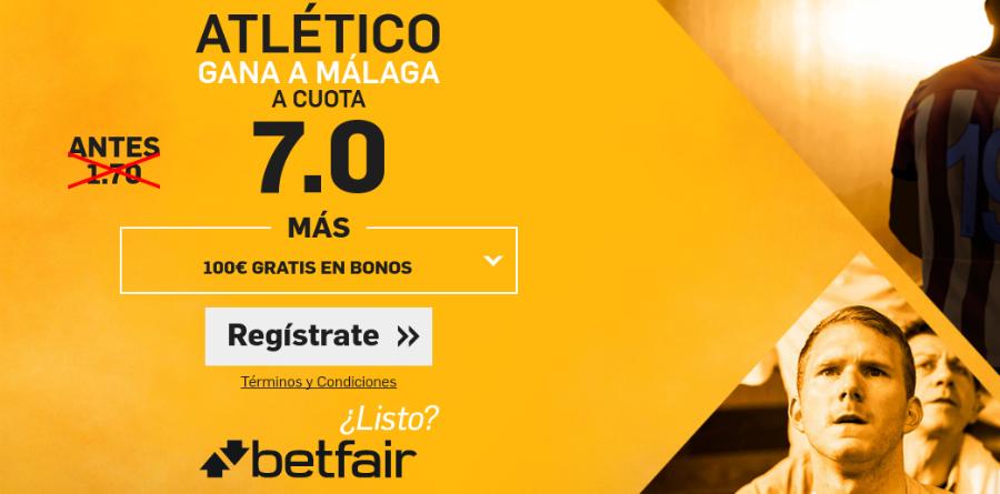 Cuotas Málaga v Atlético Madrid