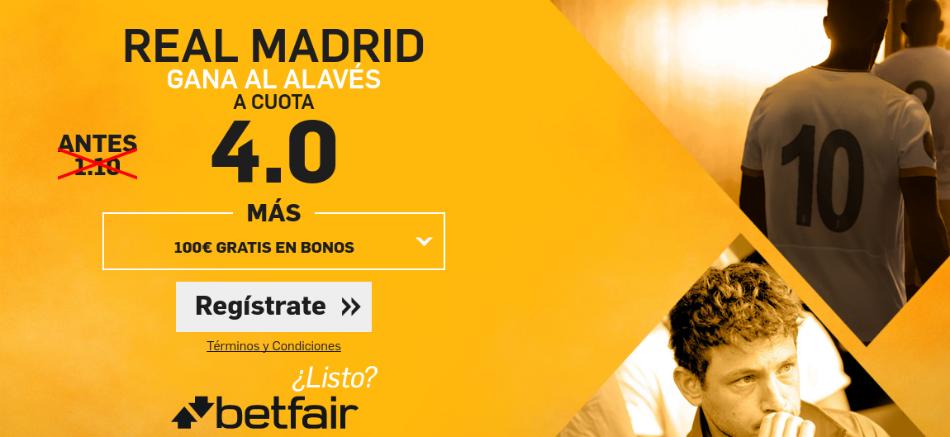 Cuotas Real Madrid v Alavés Betfair