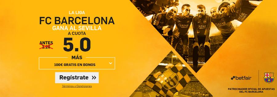 Cuotas Barcelona v Sevilla Betfair