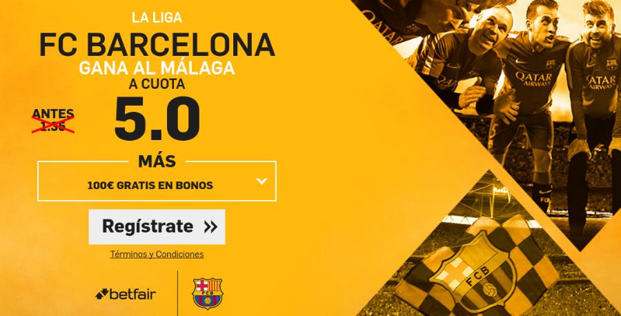 Cuotas Málaga v Barcelona Betfair