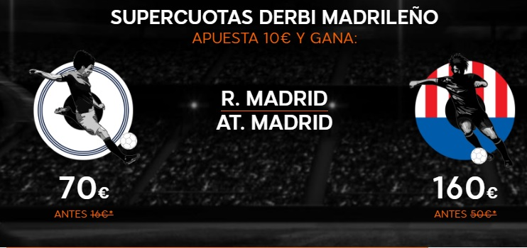 Cuotas Real Madrid v Atlético Madrid 888sport