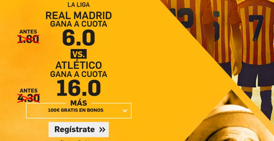 Cuotas Real Madrid v Atlético Madrid Betfair