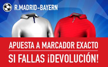 Real Madrid v Bayern Múnich Sportium