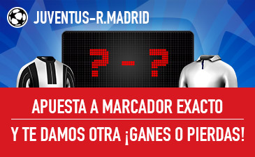 Juventus v Real Madrid Sportium Marcador
