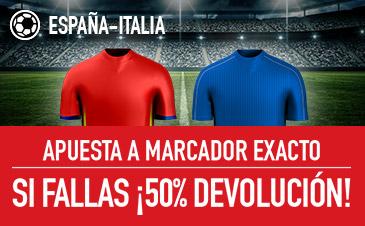 España v Italia Sportium oferta
