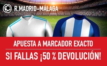 Real Madrid v Málaga Sportium