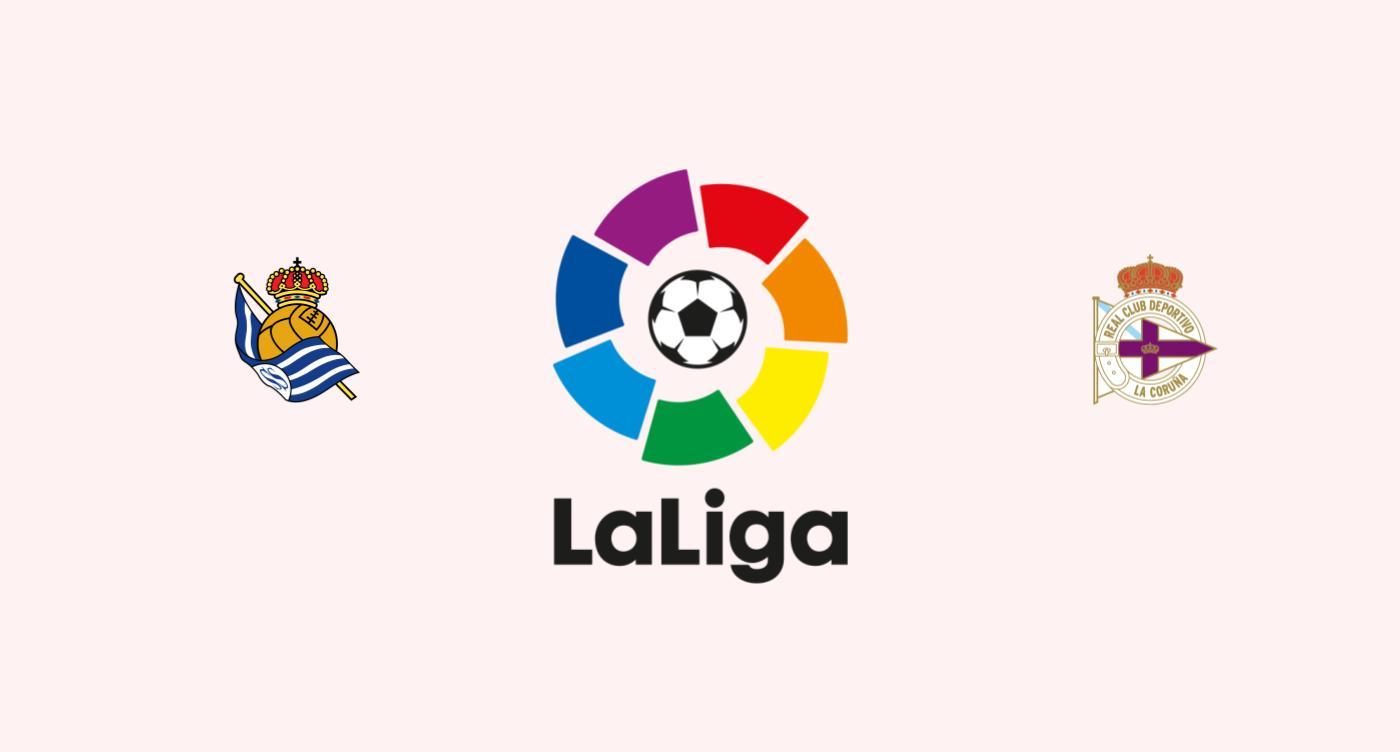 Real Sociedad v Deportivo Coruña pronóstico