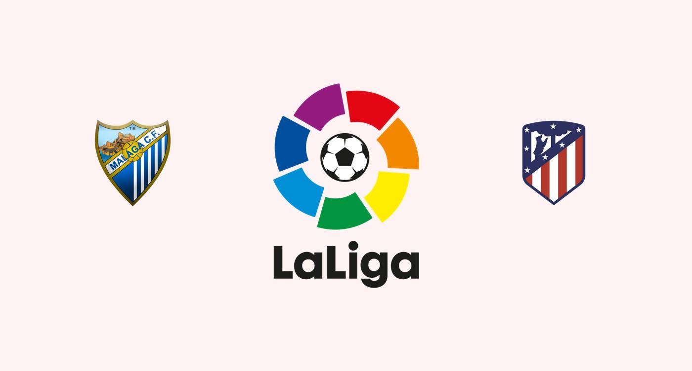 Málaga CF V Atlético Madrid La Liga