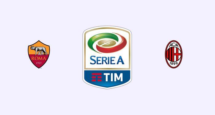 Roma v Milan Previa, Predicciones y Pronóstico 23-02-2018