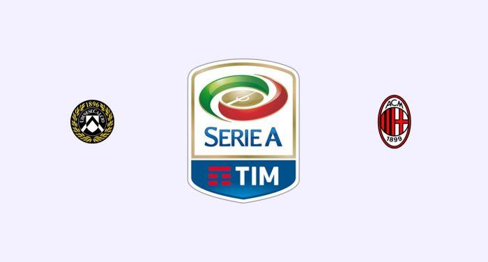 Udinese v Milan Previa, Predicciones y Pronóstico