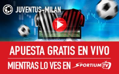 Juventus v Milán promo apuesta gratis en vivo