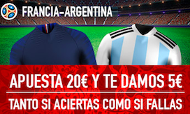 Francia v Argentina bono Sportium