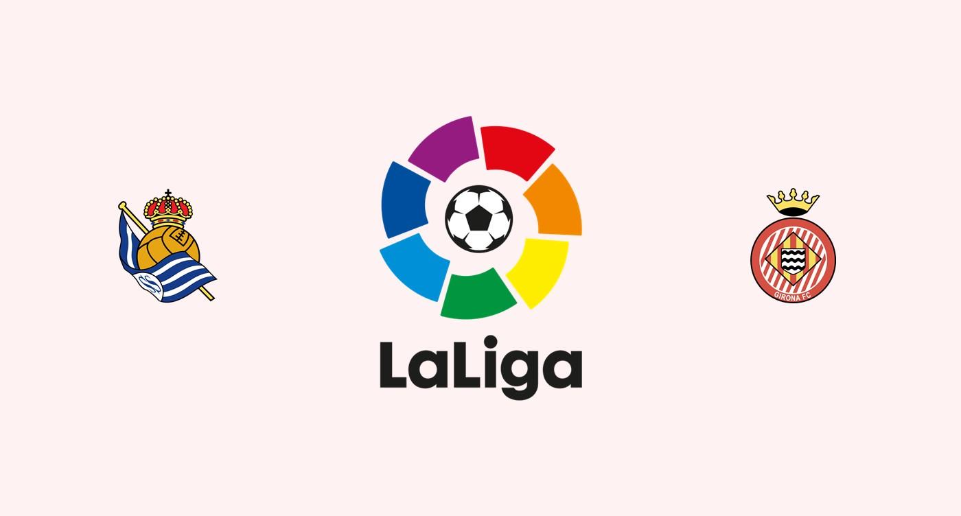 Real Sociedad v Girona Previa, Predicciones y Pronóstico 22-10-2018