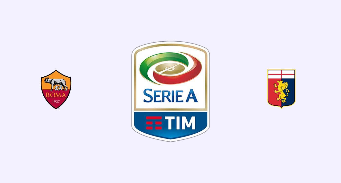 Roma v Genoa Previa, Predicciones y Pronóstico