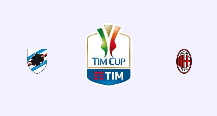 Sampdoria vs Milán Previa, Predicciones y Pronóstico 09-01-2019